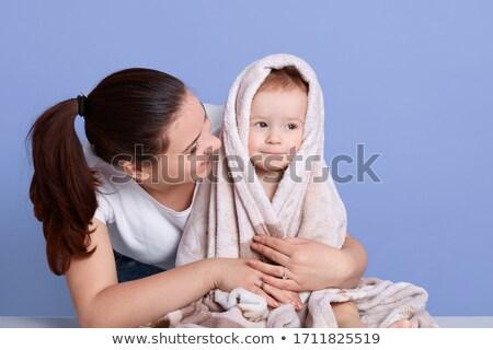 recién · nacido · bebé · bañera · bano · azul · agua - foto stock © kzenon
