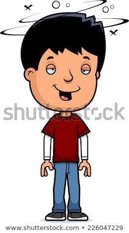Cartoon pijany teen chłopca ilustracja Zdjęcia stock © cthoman