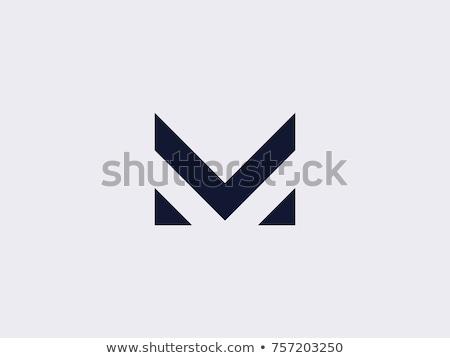 Logo m betű logotípus felirat ikon vektor Stock fotó © blaskorizov