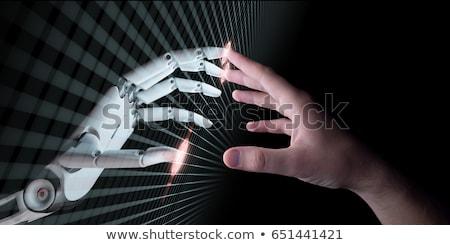 指紋 · バイナリ · マイクロチップ · 3次元の図 · 統合された · 印刷 - ストックフォト © lightsource