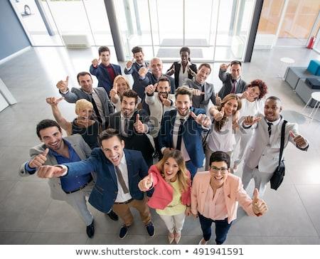 portré · boldog · üzleti · partnerek · néz · kamera · férfi - stock fotó © Minervastock