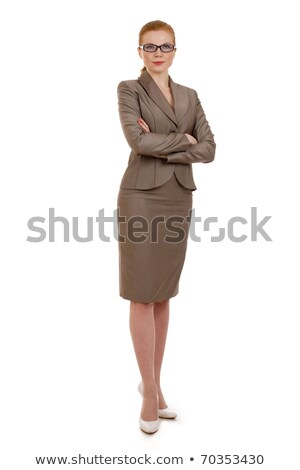 Consultant Elegant Business Woman Pretty Red Girl Stock photo © robuart