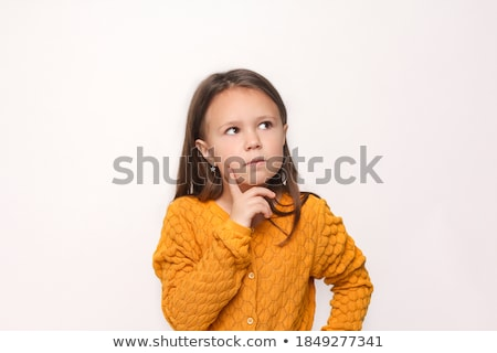 Jong meisje denken wat schrijven dagboek meisje Stockfoto © JamiRae