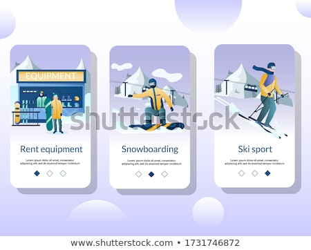 Winter extreme sports app interface template. Stock photo © RAStudio