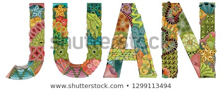 male name juan vector decorative zentangle object stock photo © natalia_1947