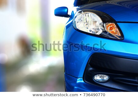 Stock photo: Front view of parked car in garage