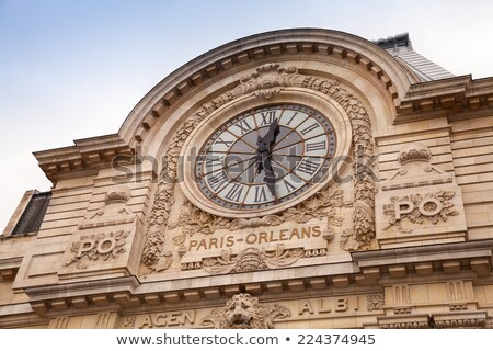 Clock in Gare Musée d'Orsay Stock photo © hsfelix
