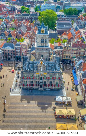town hall delft holland stock photo © neirfy