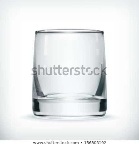 Transparant glas vector zuiverheid symbool lege Stockfoto © pikepicture