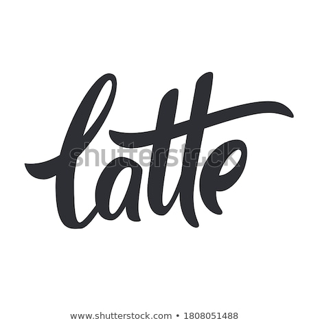 Latte lettering. Vector illustration of handwritten lettering. Vector elements for coffee shop, mark Stock photo © bonnie_cocos