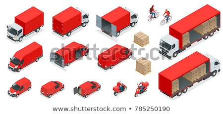 Warehouse Storage and Delivery Isometric Icons Set Stock photo © -TAlex-