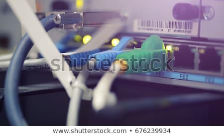 インターネット 接続 オプティカル 繊維 高速 コンピュータ ストックフォト © alphaspirit