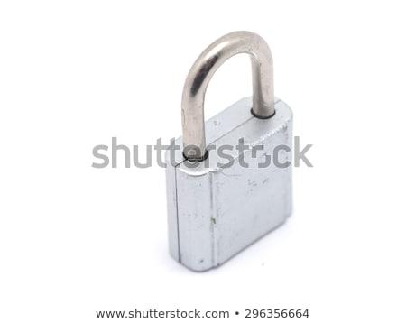 Mistrz blokady biały ilustracja tle metal Zdjęcia stock © bluering