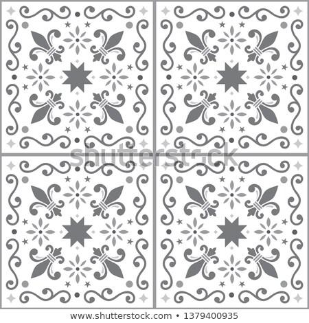 Vector tiles seamless pattern inspired by Portuguese art, Lisbon Azulejo style tile background Stock photo © RedKoala