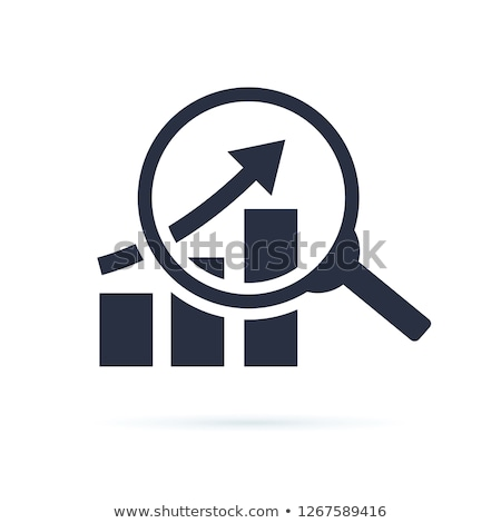data analysing icon stock photo © angelp