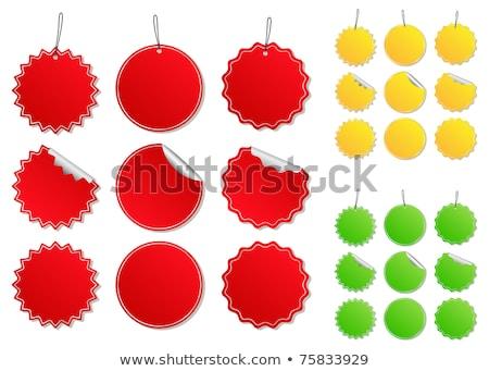 Renkli parlak düğme alışveriş sepeti örnek Stok fotoğraf © Blue_daemon