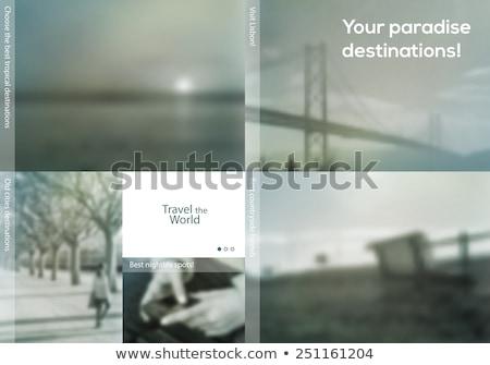 Gebruiker begeleiden landing pagina sjabloon elektronische Stockfoto © RAStudio