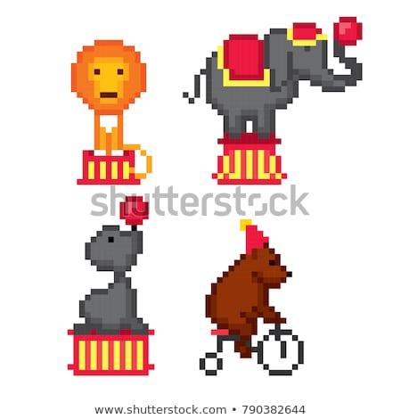 Aap jongleren acht bal illustratie ontwerp Stockfoto © colematt