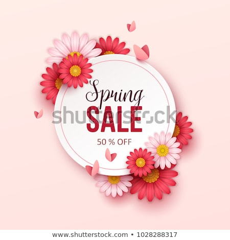 Spring Best Discount Offer Vector Promo Labels Foto stock © robuart