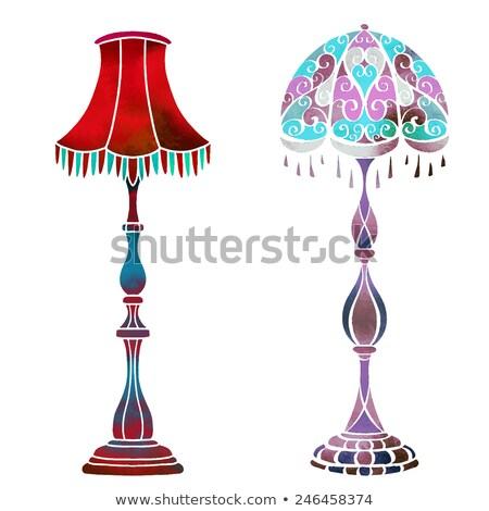 classic bedroom furniture vector watercolor interior design dec stock photo © frimufilms