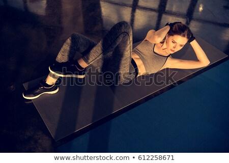 genç · uygun · kadın · uygunluk · spor · salonu · kız - stok fotoğraf © dashapetrenko