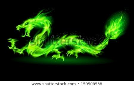икона · дракон · лет · спать · насекомое · крыло - Сток-фото © colematt