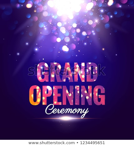 grand opening template with ribbon and bokeh lights Stock photo © SArts