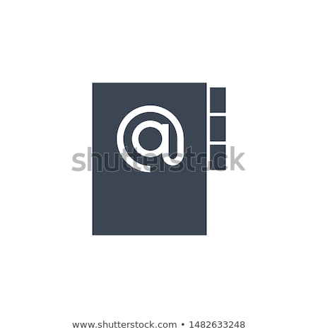 Wektora ikona odizolowany biały książki Zdjęcia stock © smoki