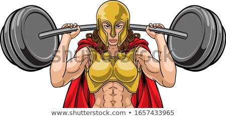 Krijger vrouw gewichtheffer barbell zwaar Stockfoto © Krisdog