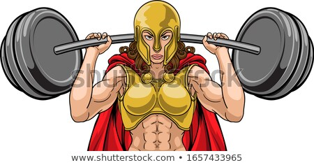 Warrior Woman Weightlifter Lifting Barbell Stock photo © Krisdog