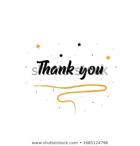 thank you abstract colorful vector poster template stock photo © decorwithme