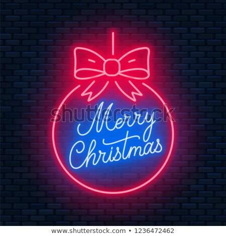 陽気な クリスマス 赤 ボール ストックフォト © Voysla