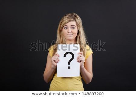 teenage girl with arrow showing direction Stock photo © dolgachov