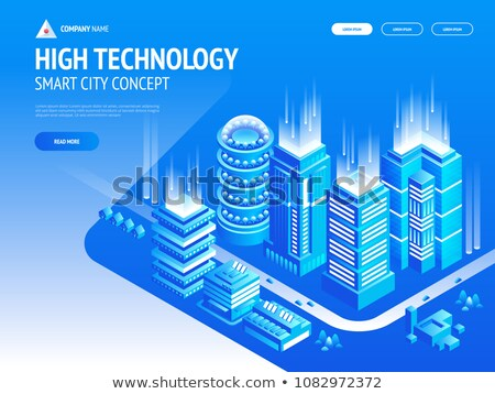 Landing page for real estate financial digital technologies Stock photo © ildogesto