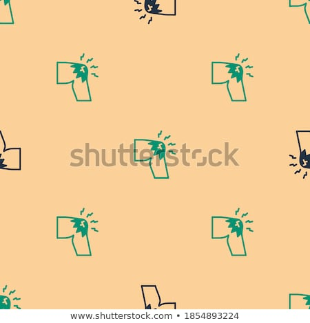 Body Ache Seamless Pattern Vector Stock photo © pikepicture