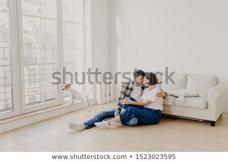 горизонтальный мнение счастливым привязчивый семьи пару Сток-фото © vkstudio