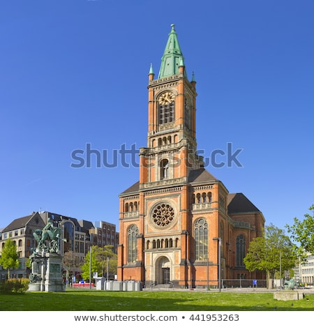 Церкви Германия высокий башни протестантский Сток-фото © borisb17