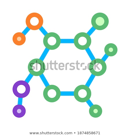 Structure Molecule Medical Biomaterial Vector Icon Stock photo © pikepicture