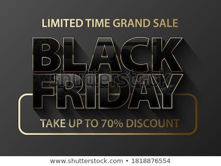 Poster black friday tanıtım vektör zaman büyük Stok fotoğraf © robuart