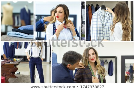 Dress fitting in tailoring studio Stock photo © pressmaster