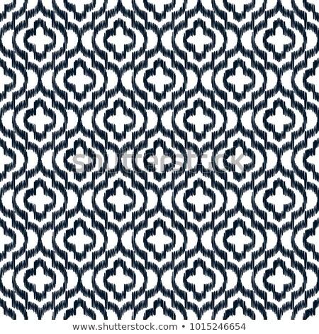 Quatrefoil ikat contour seamless line vector pattern. Stock photo © yopixart