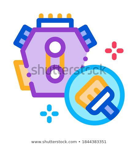 internal cleaning icon vector outline illustration Stock photo © pikepicture