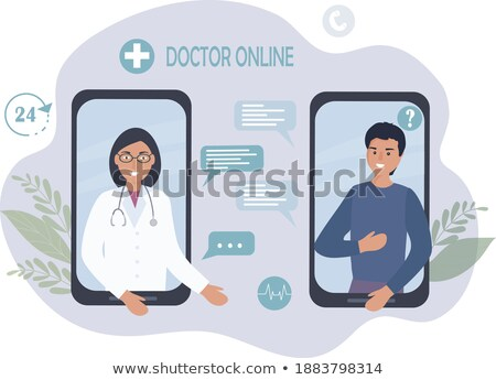 Online Consultation Between Doctor and People Stock photo © robuart