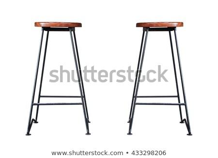 Alto bar sgabello sedia sedersi isolato Foto d'archivio © robuart