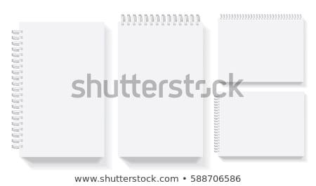 Preto realista spiralis bloco de notas marca Foto stock © evgeny89