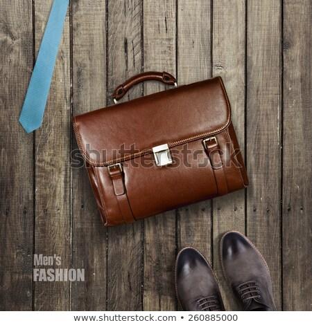 gerecycleerd · boodschappentas · hand · witte · handschoen - stockfoto © pongam