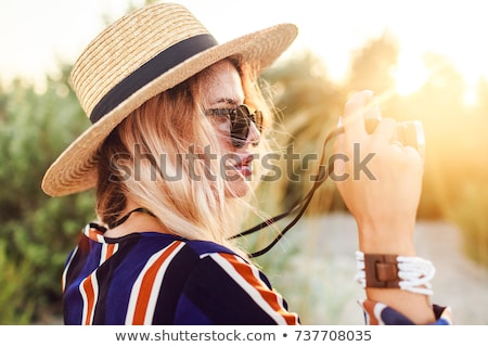 Portrait of holidaymakers at the beach Stock photo © photography33