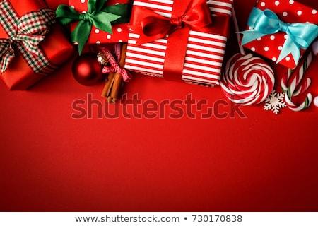 甘い ロマンチックな クリスマス 装飾 中心 ボール ストックフォト © xaniapops
