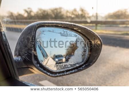 car wing mirror in snow stock photo © stevanovicigor