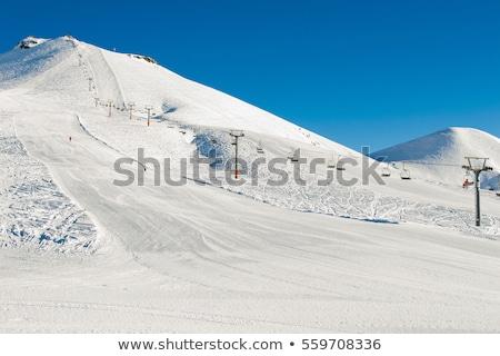 snow covered ski piste stock photo © franky242